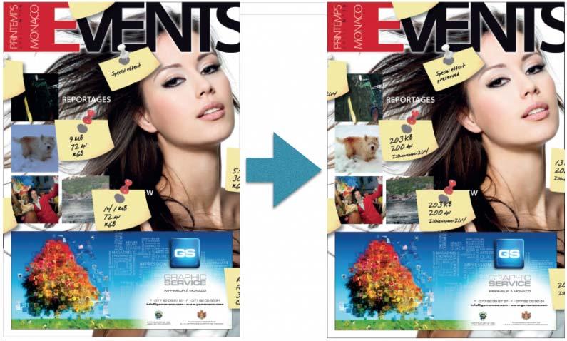 PageFinisher palvelu käsittelee paino-PDF:n kuvat automaattisesti