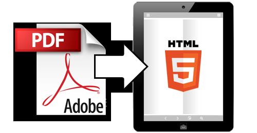 PDF-tiedosto konvertoidaan selattavaan HTML5-muotoon.